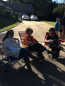 Neighbors Relaxing at Fall Fest 2016